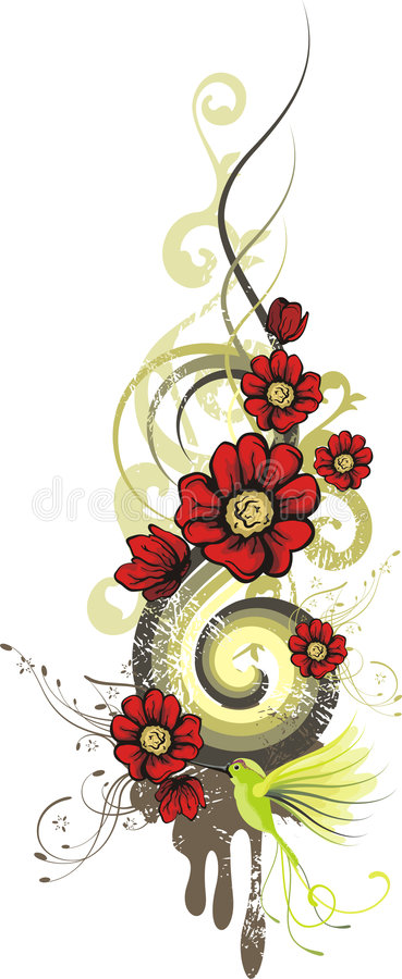 Serie del diseño floral libre illustration