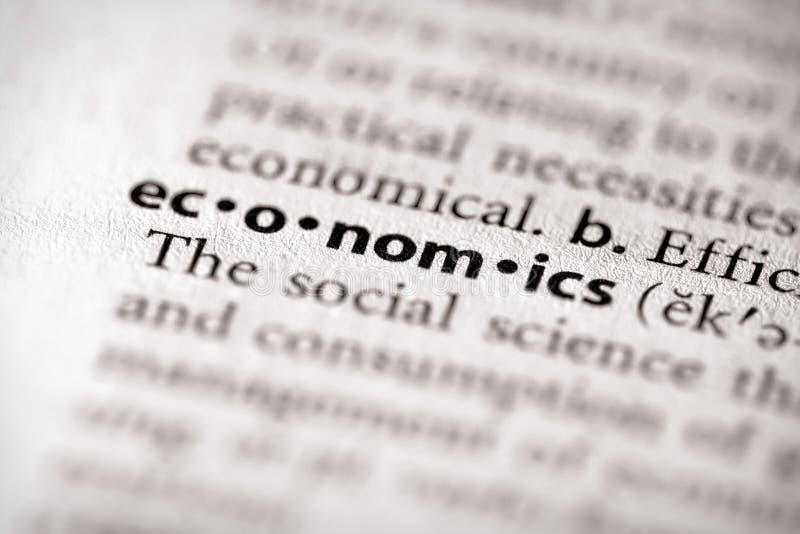 Serie del dizionario - economia: economia immagine stock libera da diritti