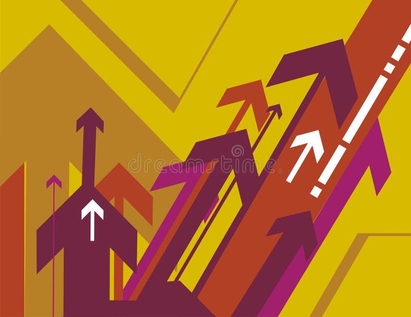 Serie del fondo de la flecha ilustración del vector