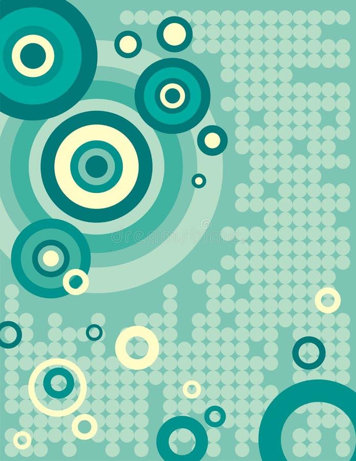 Serie del fondo del círculo stock de ilustración