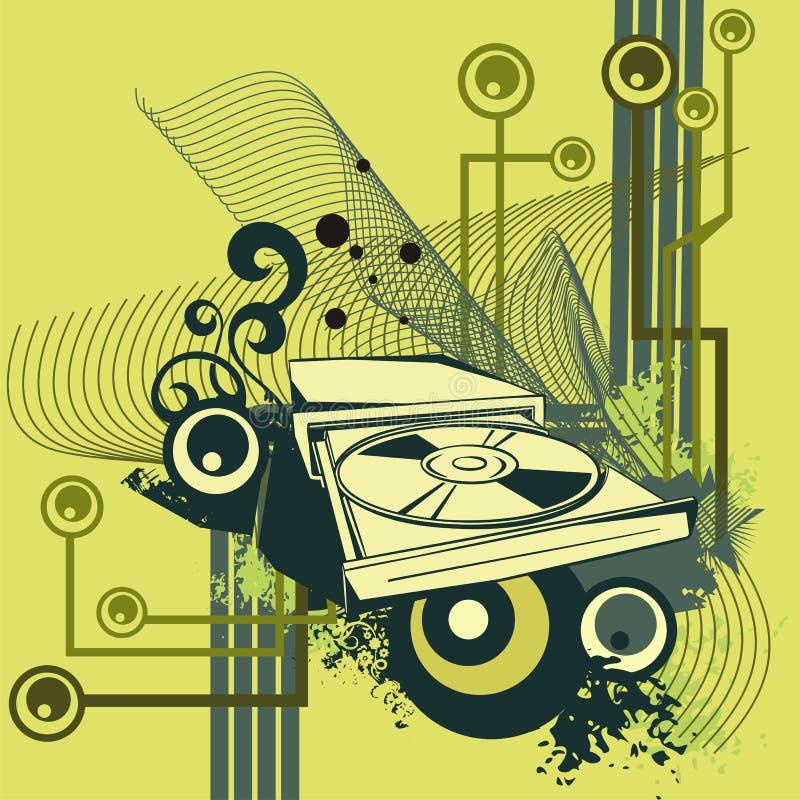 Serie del fondo del ordenador ilustración del vector