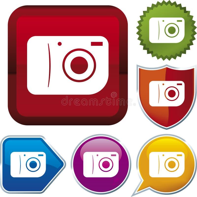 Serie del icono: cámara stock de ilustración