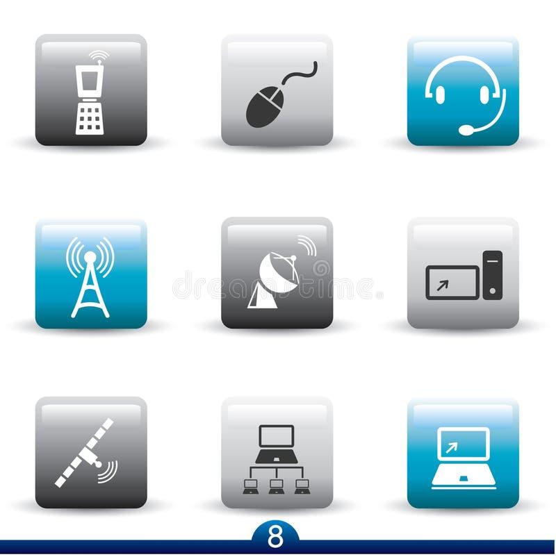 Serie del icono - comunicación stock de ilustración