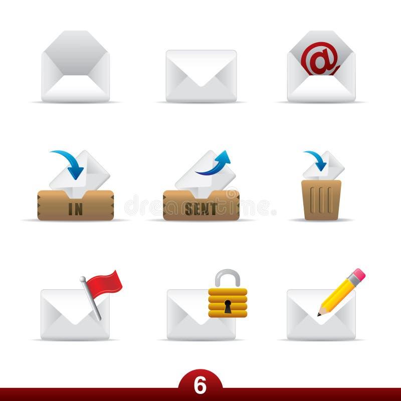 Serie del icono - correo ilustración del vector