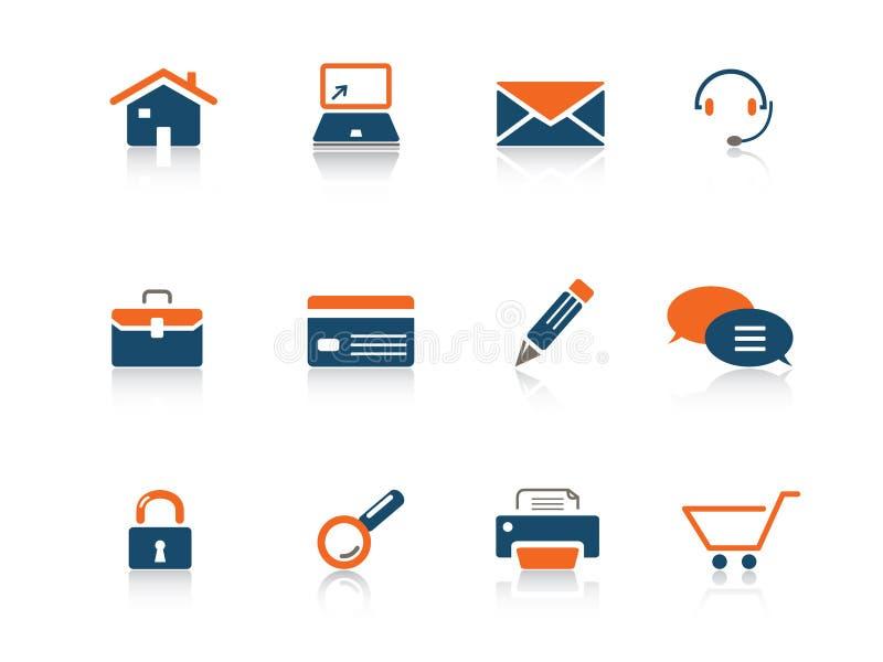 Serie del icono del Web ilustración del vector