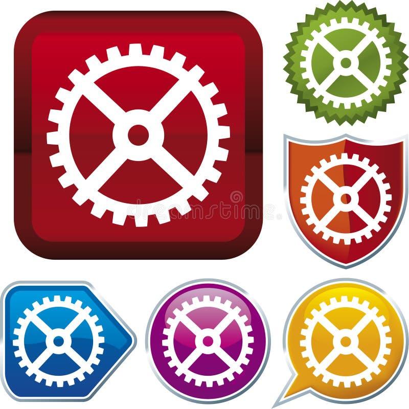 Serie del icono: engranaje (vector) stock de ilustración