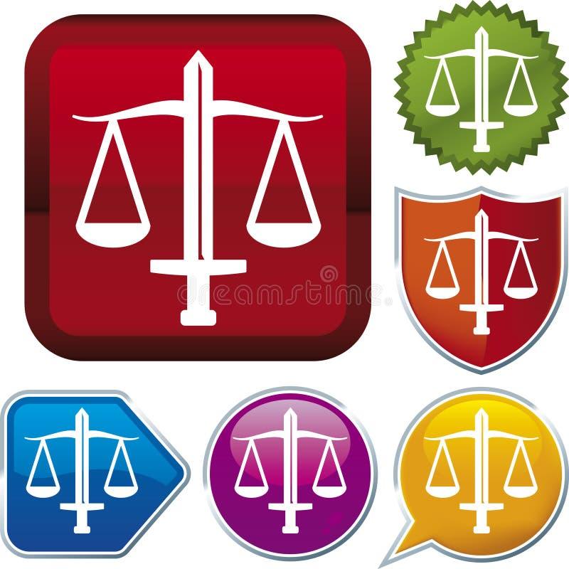 Serie del icono: justicia ilustración del vector