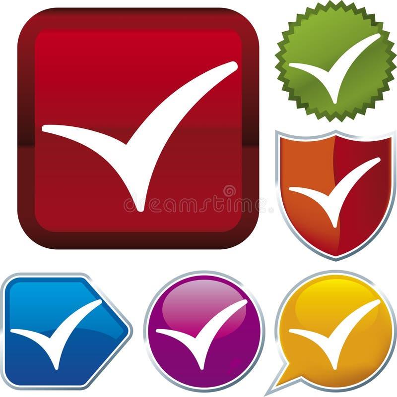 Serie del icono: marca de verificación stock de ilustración