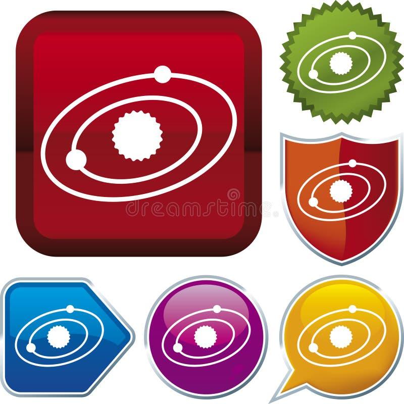 Serie del icono: Sistema Solar (vec stock de ilustración