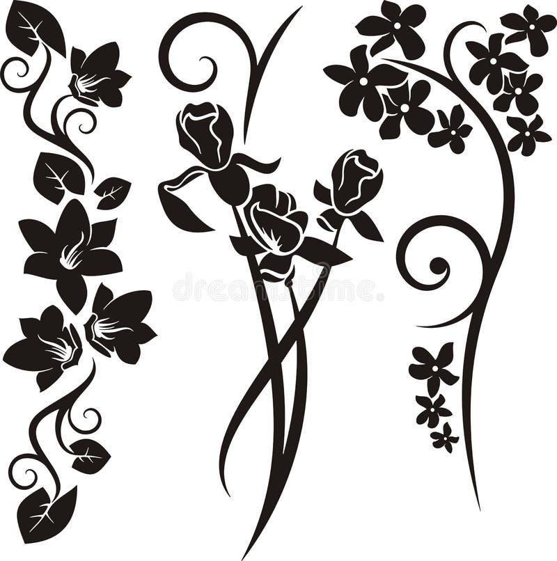 Serie del ornamento floral stock de ilustración
