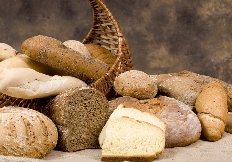Serie del pan (surtido de panes) imagen de archivo