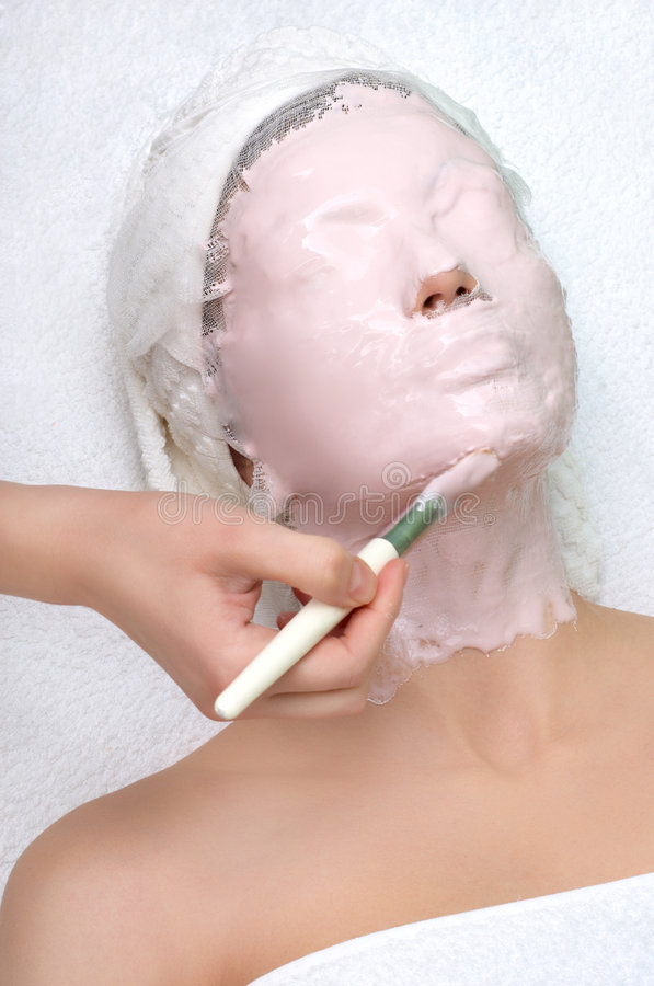 Serie del salón de belleza, máscara facial fotos de archivo libres de regalías