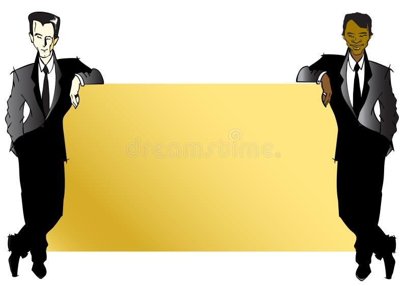 SERIE del TRABAJO - hombres de negocios ilustración del vector