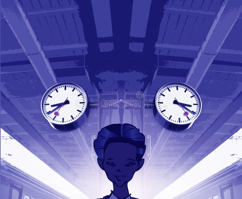 Serie del tren - pasado/futuro/presente stock de ilustración