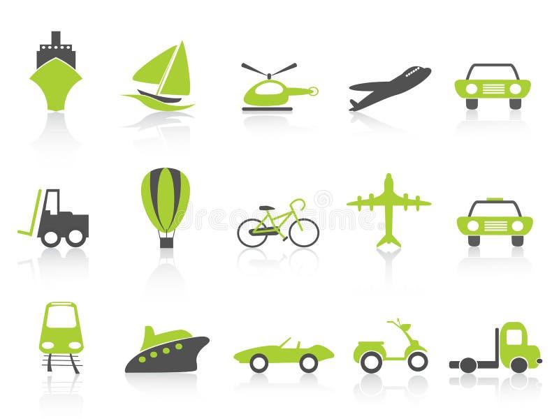 Serie del verde de la naturaleza de los iconos del transporte libre illustration