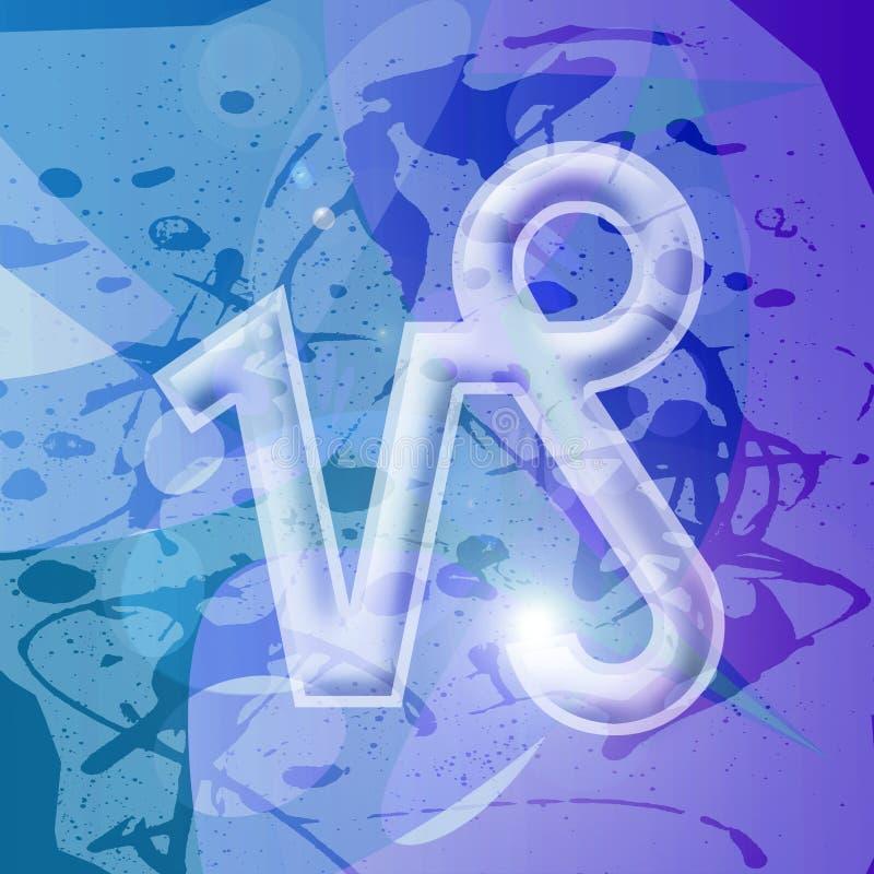 Serie del zodiaco - Capricornio ilustración del vector