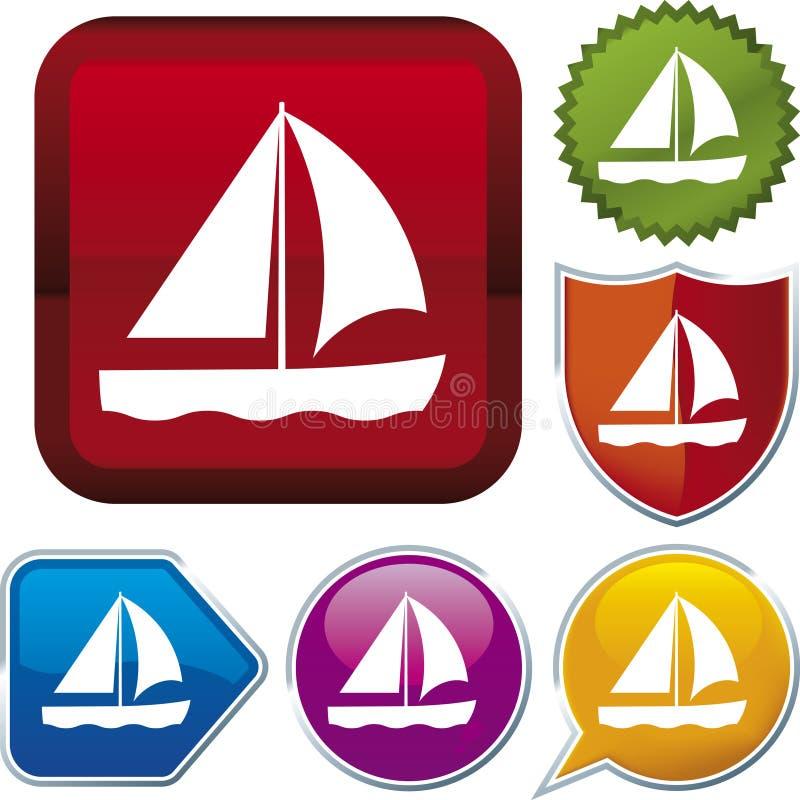 Serie dell'icona: barca royalty illustrazione gratis