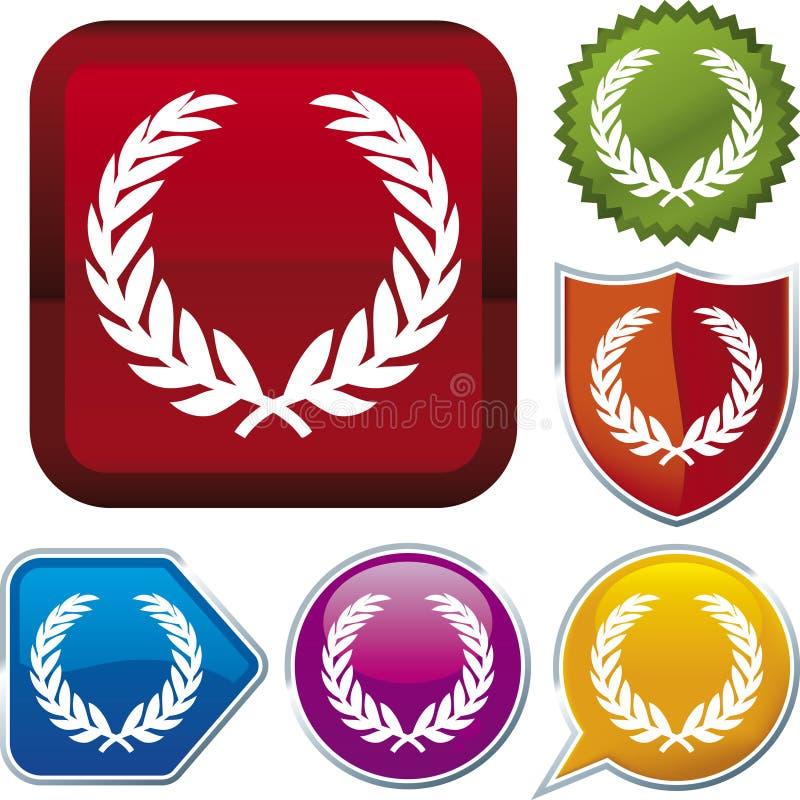 Serie dell'icona: corona (vettore) illustrazione vettoriale