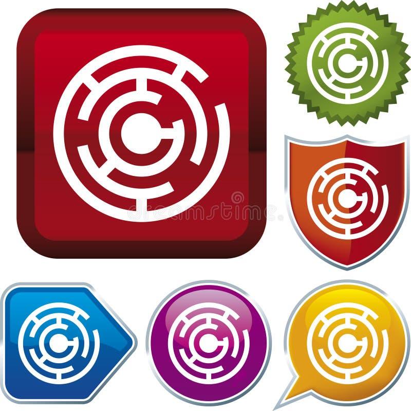 Serie dell'icona: labirinto (vettore) royalty illustrazione gratis