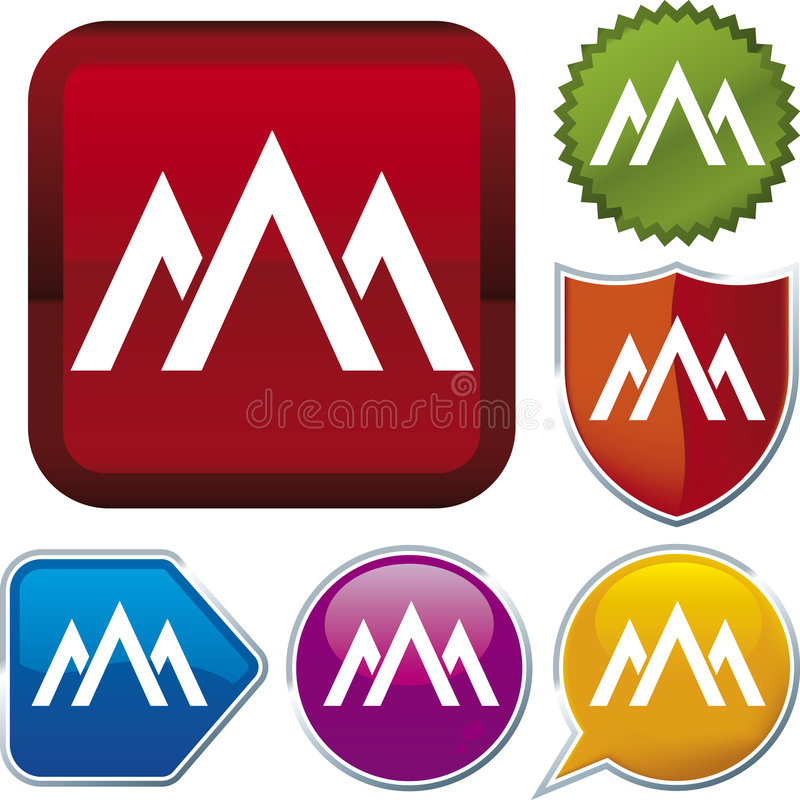 Serie dell'icona: montagna (vettore) illustrazione vettoriale