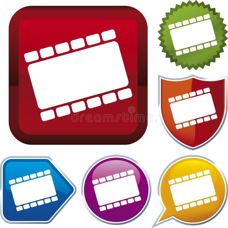 Serie dell'icona: pellicola (vettore) illustrazione di stock