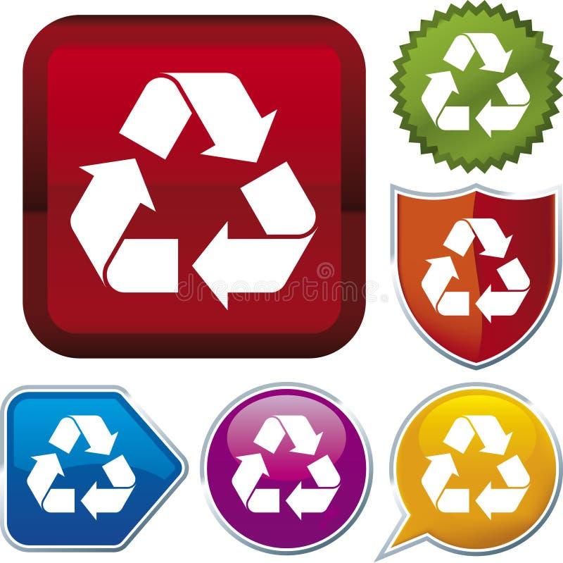 Serie dell'icona: ricicli (vettore) illustrazione di stock