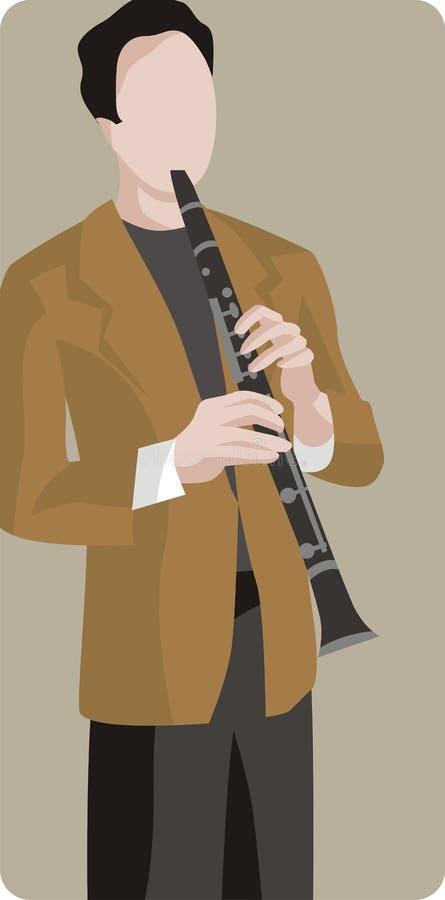 Serie dell'illustrazione del musicista illustrazione vettoriale