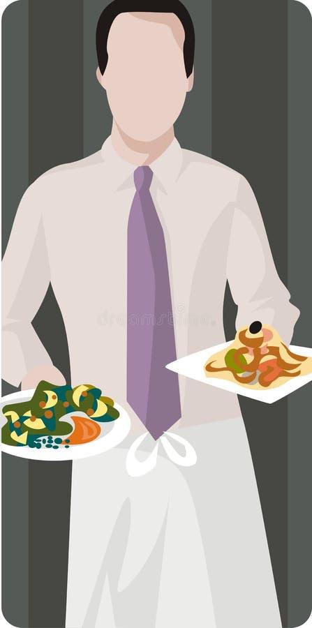 Serie dell'illustrazione del ristorante illustrazione di stock