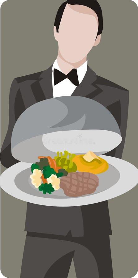 Serie dell'illustrazione del ristorante royalty illustrazione gratis