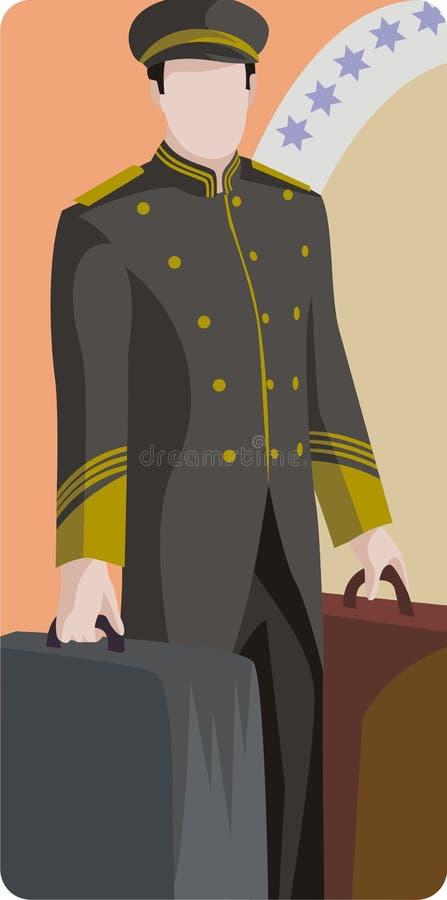 Serie dell'illustrazione dell'hotel illustrazione vettoriale
