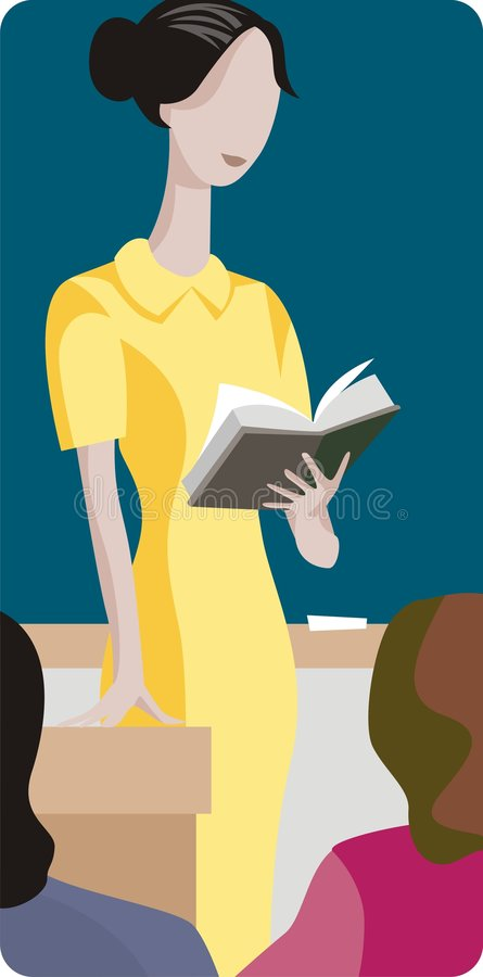 Serie dell'illustrazione dell'insegnante illustrazione vettoriale