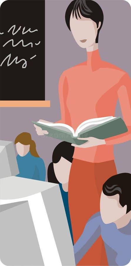 Serie dell'illustrazione dell'insegnante illustrazione di stock