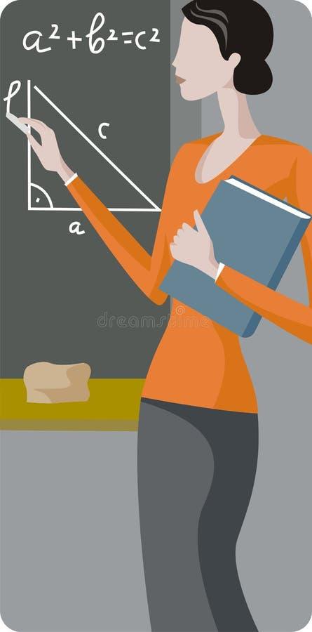 Serie dell'illustrazione dell'insegnante royalty illustrazione gratis