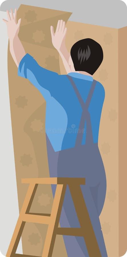 Serie dell'illustrazione dell'operaio illustrazione di stock