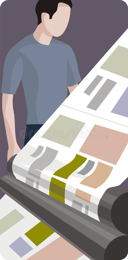 Serie dell'illustrazione di professione illustrazione vettoriale