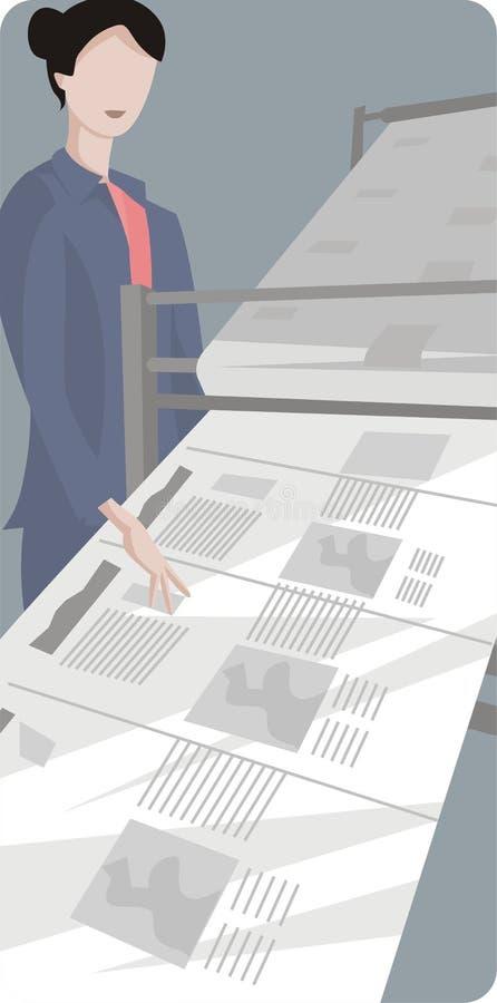 Serie dell'illustrazione di professione illustrazione di stock