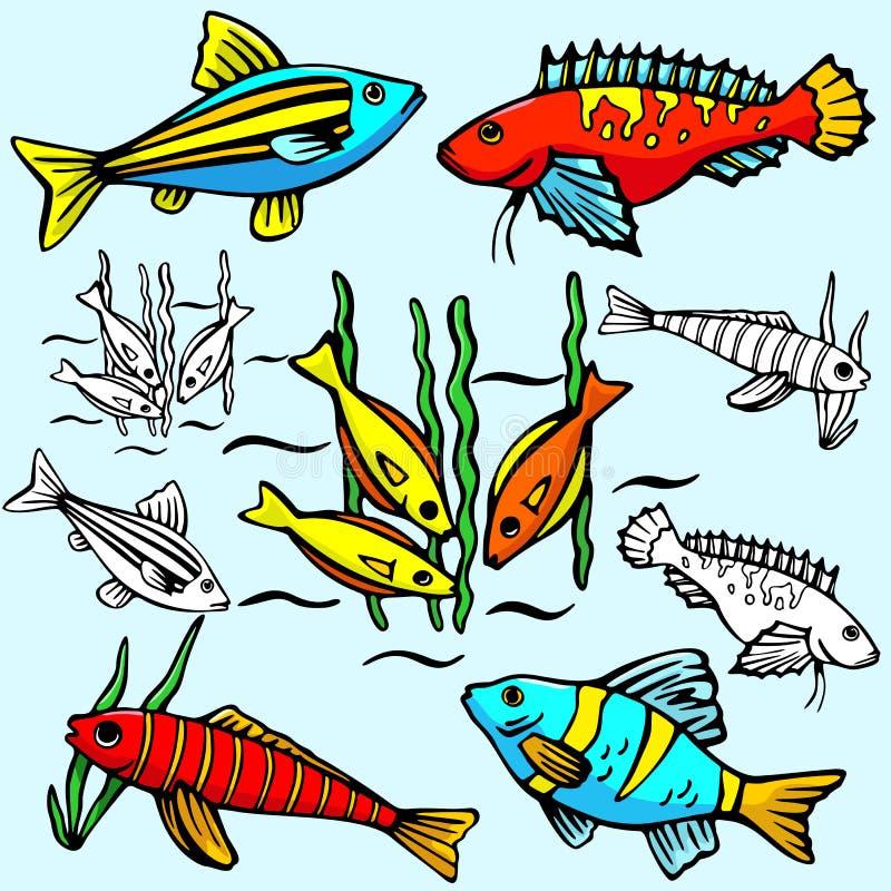Serie dell'illustrazione di Seaworld illustrazione di stock