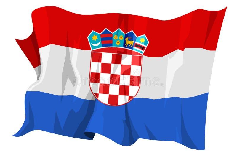 Serie della bandierina: Il Croatia illustrazione vettoriale
