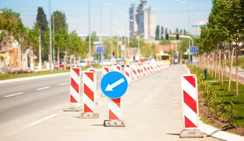 Serie della costruzione di strade fotografia stock libera da diritti