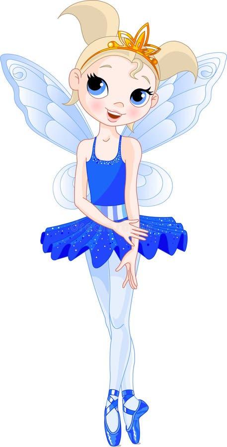 (Serie delle ballerine del Rainbow). ballerina dell'indaco illustrazione vettoriale