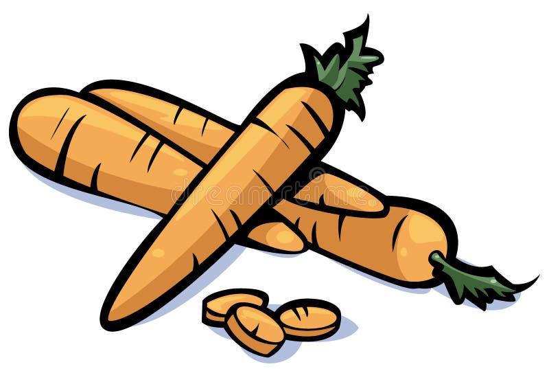 Serie delle verdure: carote royalty illustrazione gratis