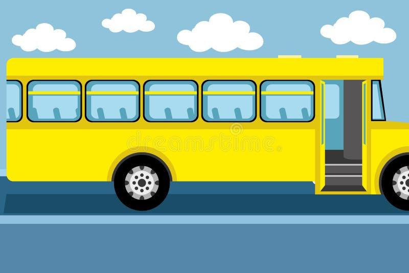 Download Serie dello scuolabus - 1 illustrazione vettoriale. Illustrazione di yellow - 56890973