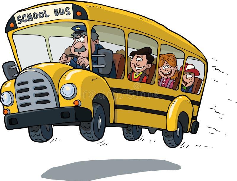 Serie dello scuolabus - 1 royalty illustrazione gratis