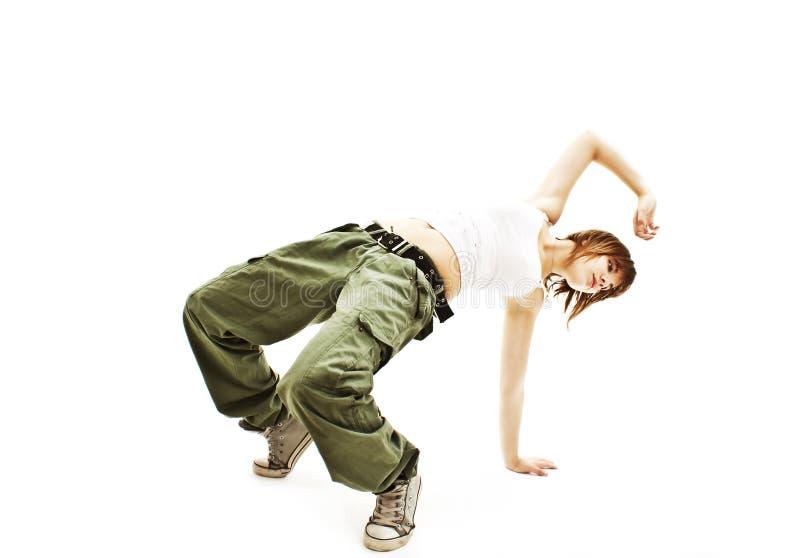 Serie dello studio di hip-hop di dancing dell'adolescente fotografia stock libera da diritti
