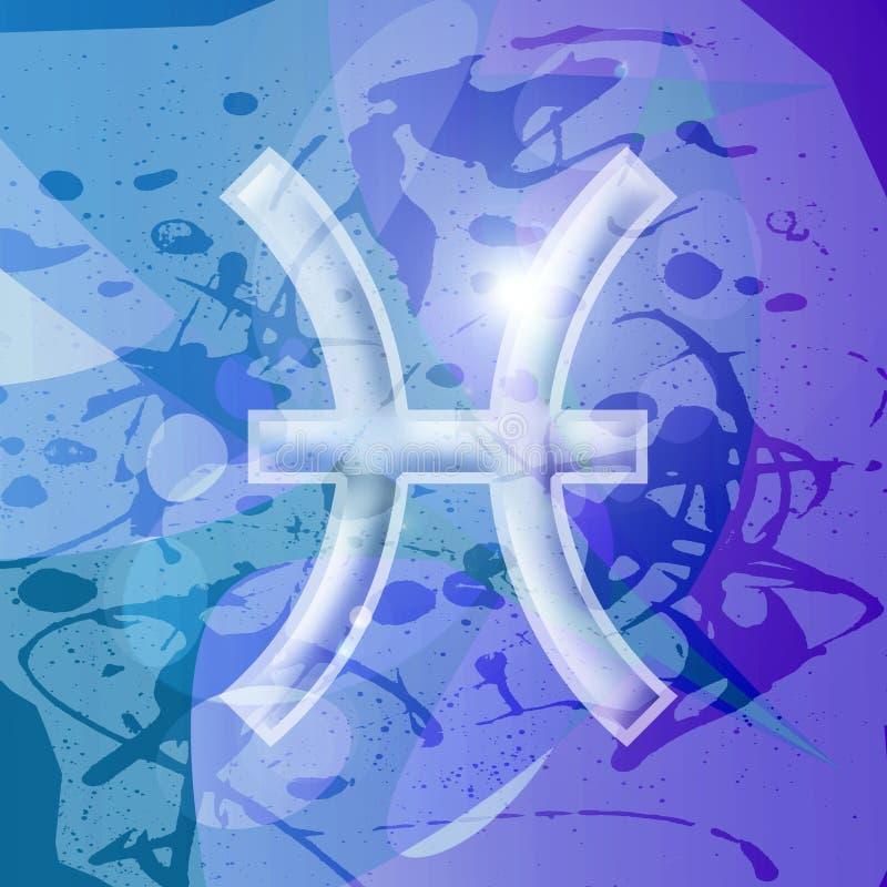 Serie dello zodiaco - Pisces illustrazione di stock