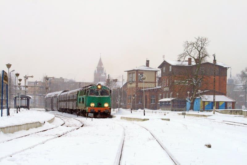 Serie an der Station lizenzfreie stockbilder