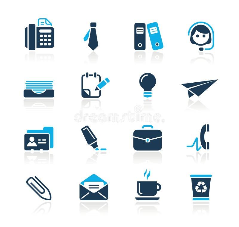 Serie di azzurro di // di affari & dell'ufficio illustrazione vettoriale