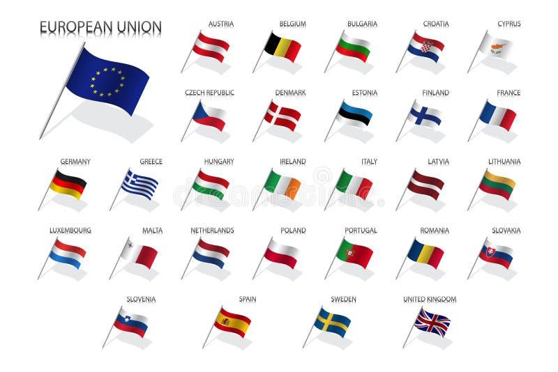 Metta Le Bandiere Degli Stati Dell Unione Europea Stati Membri