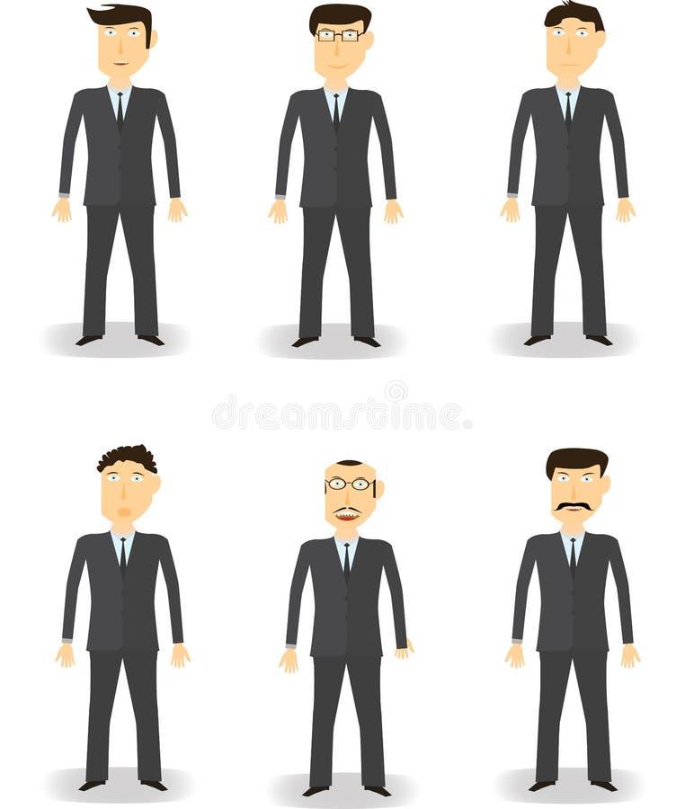 Serie di caratteri dell'uomo di affari immagini stock libere da diritti