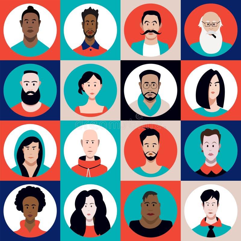 Serie di caratteri della gente illustrazione di stock
